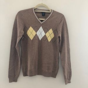NWT IZOD Brown Sweater LS XS C66
